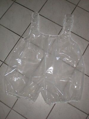 PVC Transparent Adult Baby Body Sanua Schwitzanzug Shorty Spielanzug XL-XXXL