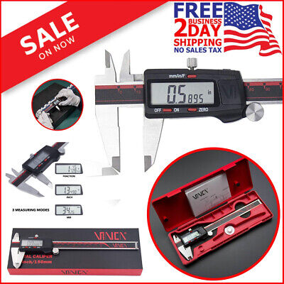 DIGITAL ELECTRONIC CALIPER Vernier Inch Measuring Stainless Steel Micrometer New