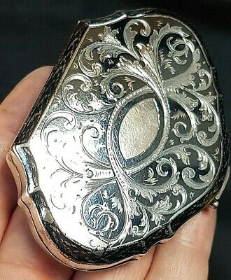 Superb Imperial Russian Solid Silver & Niello Silk Lined Coin Purse c1890