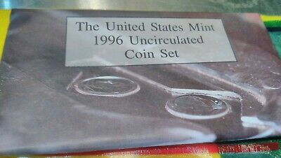 """1996 US Mint Uncirculated P&D Coin Set With """"W"""" Dime (11 Coins)"""