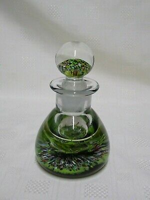 Vintage CG Caithness Glass Paperweight Ink Well - Peter Holmes - 5.5""