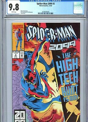 Spider-Man 2099 #2 CGC 9.8 White Pages Marvel Comics 1992