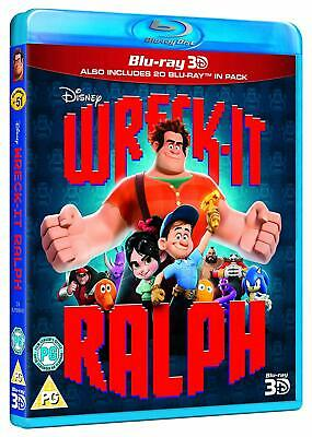 Disney's Wreck-It Ralph [3D + 2D Blu-ray Region Free Silverman Video Games] NEW