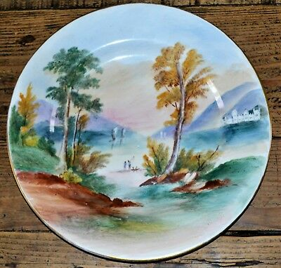 Antique Early C20th Hand Painted & Signed Spode Copeland Plate 26cm Diameter