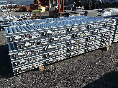 Hytrol 10FT Roller Conveyor with EZLogic Accumulation System