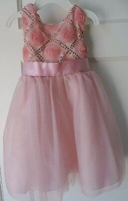 NWT Rare Editions Baby Little Girls Toddler Pink Party Sequin Dress 24M