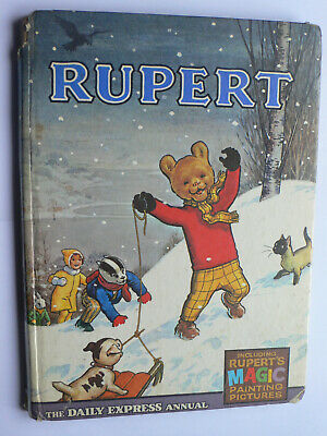 Rupert Annual 1967.Magic Paintings Uncompleted.Not done.Daily Express.Scarce