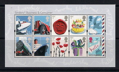 GB 2010 Business and Consumer Smilers Minisheet, MS3024, MNH