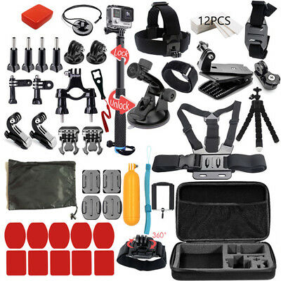 GoPro HERO7 Black Action Camera Accessories Kit For GoPro Hero 7/6/5/4 New Model