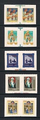 Ireland Eire - Christmas s/a Booklet stamps 1998 to 2002, MNH