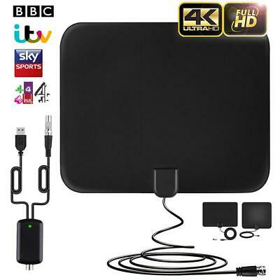 Indoor TV Antenna Digital HDTV+Aerial Amplified 120 Mile Range VHF UHF Freeview