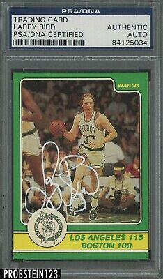 786c570aa63 1984 Star  4 Larry Bird Boston Celtics HOF Signed White INK AUTO PSA DNA