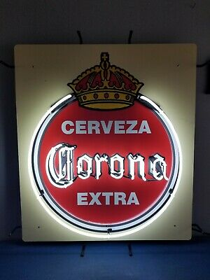 (L@@K) Corona beer extra cerveza giant neon light up sign bar game room mexico