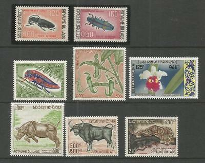 LAOS 1968-1974 Animals-Insects-Orchid** Fauna & Flora.  MNH.