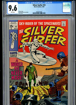 Silver Surfer #10 Cgc Graded 9.6 (1969 Marvel) White Pages!