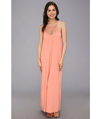 be3f82b2ad7a NEW* RIP CURL SURF Sz S Maxi Dress Bikini Cover Up $60 Retail Sunseeker  Coral