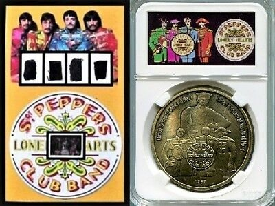 Beatles Owned and Worn Clothing  SGT PEPPER Film Frame Display Plus Medal