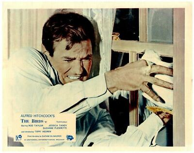 The Birds original Lobby Card Child attached screams Alfred Hitchcock 1963