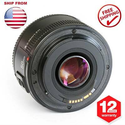 YONGNUO YN 50mm F1.8 AF/MF Large Aperture Auto Focus Lens For Canon EOS EF DSLR