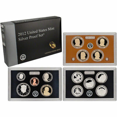 2012  United States Mint Silver Proof Set 14 Coins Box & COA National Parks