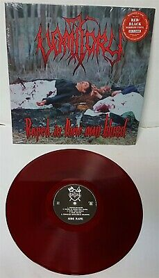 Vomitory In Their Own Blood Red Black Marbled Vinyl LP Record new