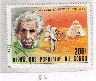 Congo Einstain Space US Apollo 11 First Man on Moon Armstrong stamp 1971