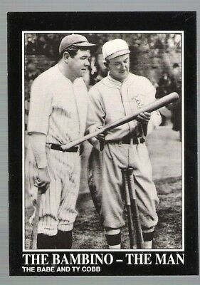1992 BABE RUTH BASEBALL CARD Number 125!!  WITH TY COBB