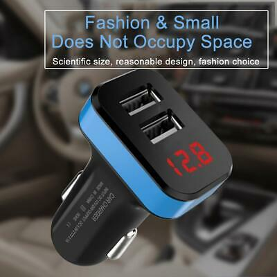Car Charger 12-24V Dual USB 5V 3.1A With LED Display Voltage And Current
