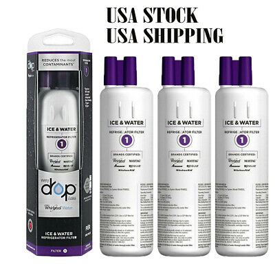 3Pack Whirlpool-W10295370A-EDR1RXD1 Every Drop1 Refrigerator Water Filter 1 USA