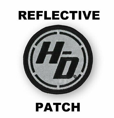 Harley Davidson Reflective Ignition Circle  Vest Patch * Discontinued * 3 Inch