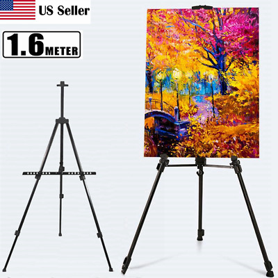 Metal Telescoping Tripod Artist Easel Display Stand Painting With Carry Bag