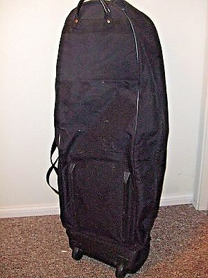 Golf Clubs Carry Bag Travel Cover Golf Club Luggage Carrier Case Wheels