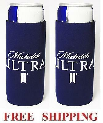 Michelob Ultra 2 Slim Can Cooler Coozie Coolie Koozie Huggie New Bud