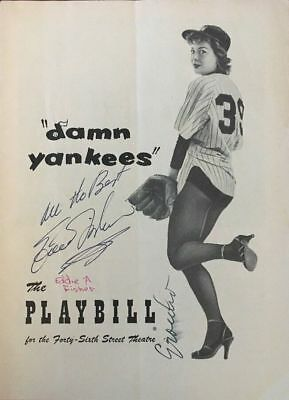 """1955 Groucho Marx/ Eddie Fisher Signed Autographed """"Damn Yankees"""" Playbill"""