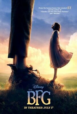 Steven Spielberg THE BFG 2016 Original 27x40 Double-Sided Poster Ruby Barnhill