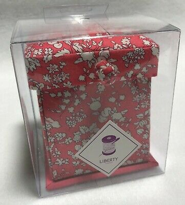 Liberty of London Victorian Sewing Box - Bright Pink Floral