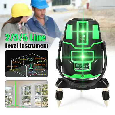 Laser Level 2/3/5 Lines Self-Leveling 360° Rotary Green Cross Line Measure Tool