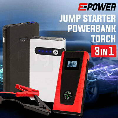 Jump Starter Start Car Battery Pack Portable Charger Power Bank Lithium Torch