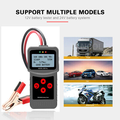 MICRO-200 Car Battery Load Tester 12V Analyzer 30-200Ah Lead-acid, EFB,AGM,GEL