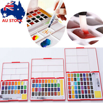 24/36/48X Assorted Watercolors Field Sketch Set with Brush Watercolor Painting