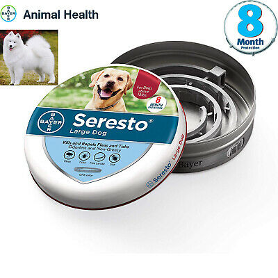 Bayer Seresto Flea and Tick Collar for Large Dog,8 Months Protection--waterproof