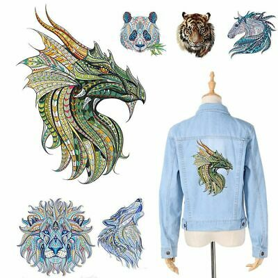 Cool Washable T-shirt 3D Animal Patch Ironing Sticker Applique Heat Transfer