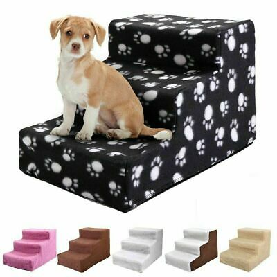 New Plastic Pet Stairs Durable Indoor or Outdoor 3 Step Design White/Beige