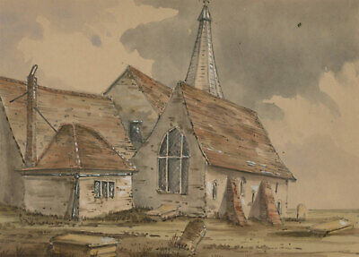 David Markham (1800-1853) - Mid 19th Century Watercolour, Clewer Church
