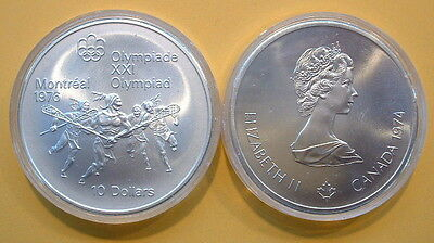 CANADA 1976 OLYMPIC $10 SILVER COIN *No 9**