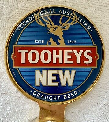 Tap Top Decal Tooheys New Draught Beer Double Sided  Badge Free Postage!