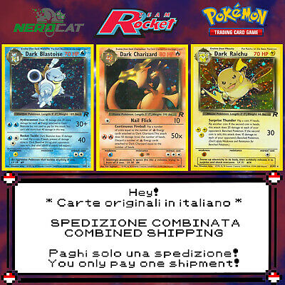 🍀Carte Pokémon RARE SET TEAM ROCKET lotto Pokemon Spedizione combinata🍀