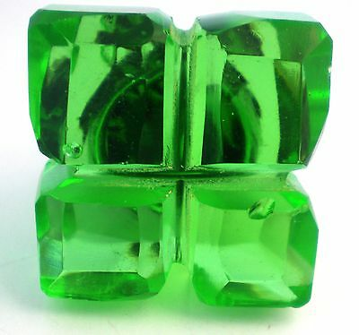 The Most Amazing Hand Cut Depression Glass Green Crystal Knobs Handles Pulls