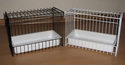 Double Wire Bird Bath / Cage - Canary Etc - Available In Black Or White