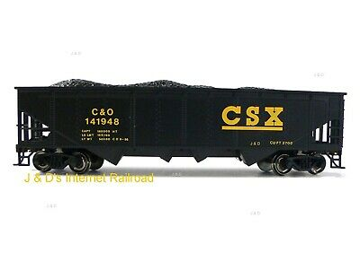 HO Scale Model Railroad Trains Layout Bachmann CSX Quad Hopper with Coal 17618